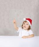 chłopiec kapelusz Santas Obraz Royalty Free