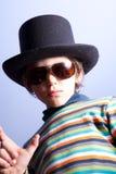 chłopiec kapeluszu biodro obraz stock