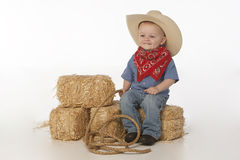 chłopiec kapeluszu comber Fotografia Stock