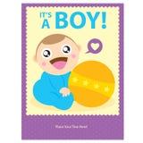 Chłopiec kartka z pozdrowieniami projekt Ilustracji