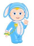 Chłopiec królik Fotografia Royalty Free