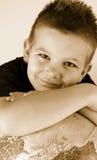 chłopiec kula ziemska Zdjęcia Royalty Free