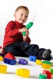 chłopiec lego sztuka Zdjęcie Royalty Free