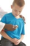 Chłopiec medyczna wizyta Zdjęcia Stock