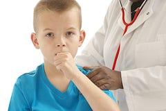 Chłopiec medyczna wizyta Obrazy Royalty Free