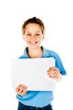 chłopiec mienia papier Zdjęcia Royalty Free