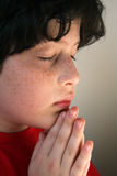 chłopiec modlenia potomstwa Obraz Stock