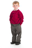 chłopiec mundurek szkolny Zdjęcia Royalty Free
