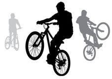 Chłopiec na bicyklach Fotografia Stock