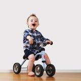 Chłopiec na bicyklu Fotografia Stock