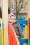 Chłopiec na boisku Zdjęcie Royalty Free