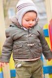 Chłopiec na boisku Zdjęcia Stock