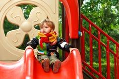 Chłopiec na childs jardzie Obraz Royalty Free