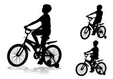 Chłopiec na rowerze Obrazy Royalty Free