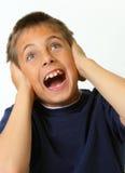 chłopiec nakrywkowy ucho target1589_0_ Obraz Stock