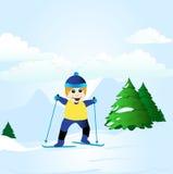 chłopiec narciarstwo Obraz Stock