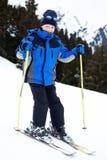 chłopiec narciarstwo Obraz Royalty Free