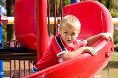 chłopiec obruszenie Fotografia Royalty Free
