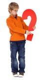 chłopiec oceny pytanie zdjęcia stock