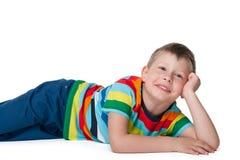Chłopiec odpoczynki Obrazy Stock