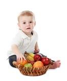 chłopiec owoc zdjęcie stock