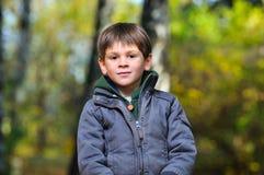 chłopiec park Zdjęcia Stock