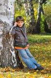chłopiec park Zdjęcia Royalty Free