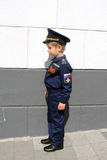 Chłopiec pilot obrazy royalty free