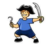 chłopiec pirat Royalty Ilustracja