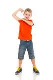 Chłopiec pokazuje daleko zdjęcia royalty free