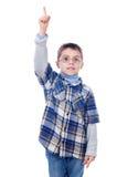Chłopiec pokazuje jeden palec Fotografia Royalty Free