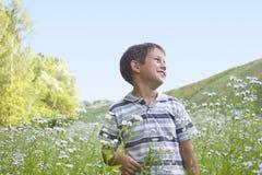 chłopiec pole Obraz Royalty Free
