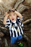 chłopiec pole Zdjęcia Royalty Free