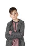 Chłopiec pozycja Obraz Royalty Free