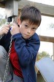 Chłopiec przy boiskiem Zdjęcie Royalty Free