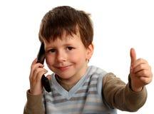 chłopiec przypadkowy rozochocony koszulowy seans kciuk koszulowy Obraz Stock