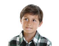 chłopiec przystojni szkockiej kraty koszula potomstwa fotografia stock