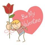 Chłopiec pyta dla jego valentine Zdjęcie Stock