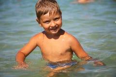 chłopiec radosna Zdjęcia Royalty Free
