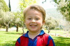 chłopiec rozochocona Obraz Royalty Free