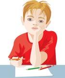chłopiec rysunek Zdjęcia Stock