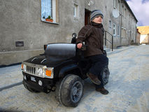 chłopiec samochód Zdjęcie Royalty Free