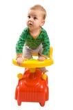 chłopiec samochód Zdjęcia Stock