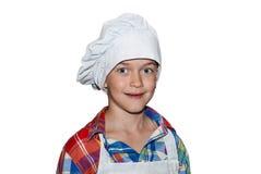 Chłopiec szef kuchni Obrazy Royalty Free
