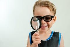 Chłopiec szpieg Obraz Stock