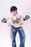 chłopiec tana dancingowy hip hop zatrzaskiwanie nastoletni Zdjęcia Royalty Free