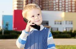 chłopiec telefon Fotografia Stock