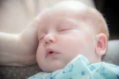 Chłopiec twarzy dosypianie Obraz Royalty Free
