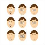 chłopiec twarzy wektor Obraz Stock