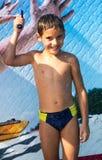 Chłopiec w aqua parku Obraz Stock
